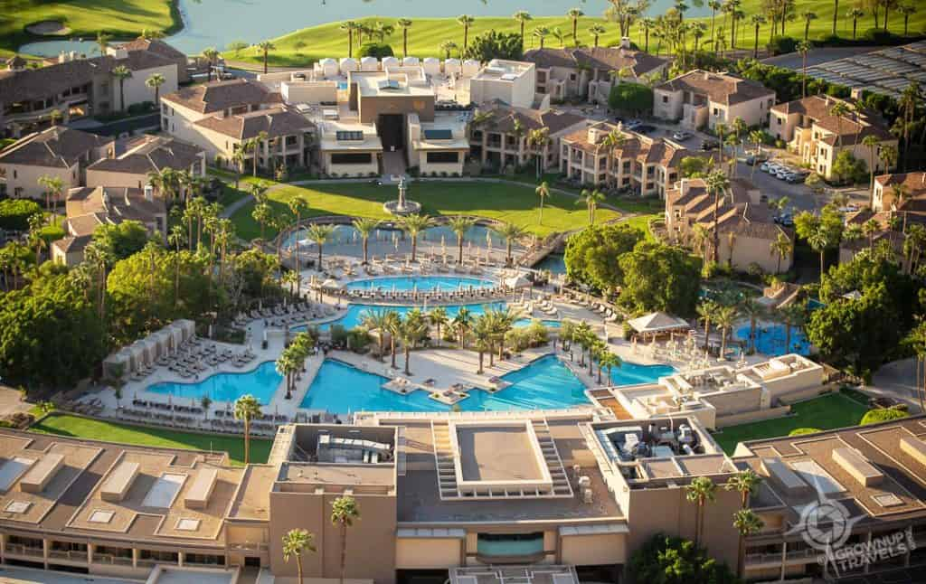 Phoenician Aerial property view