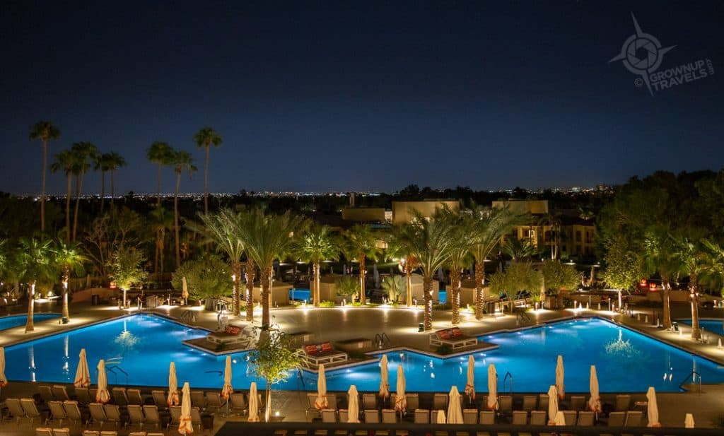 Phoenician view from terrace night