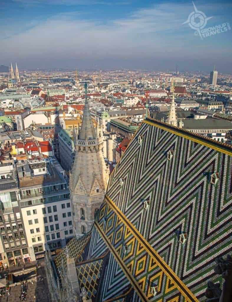 Vienna view from St Stephens south tower
