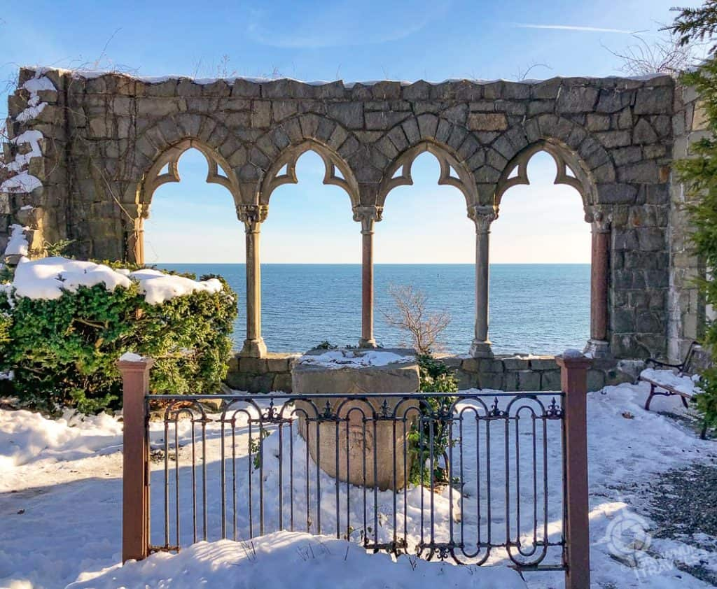Hammond Castle Arched Overlook