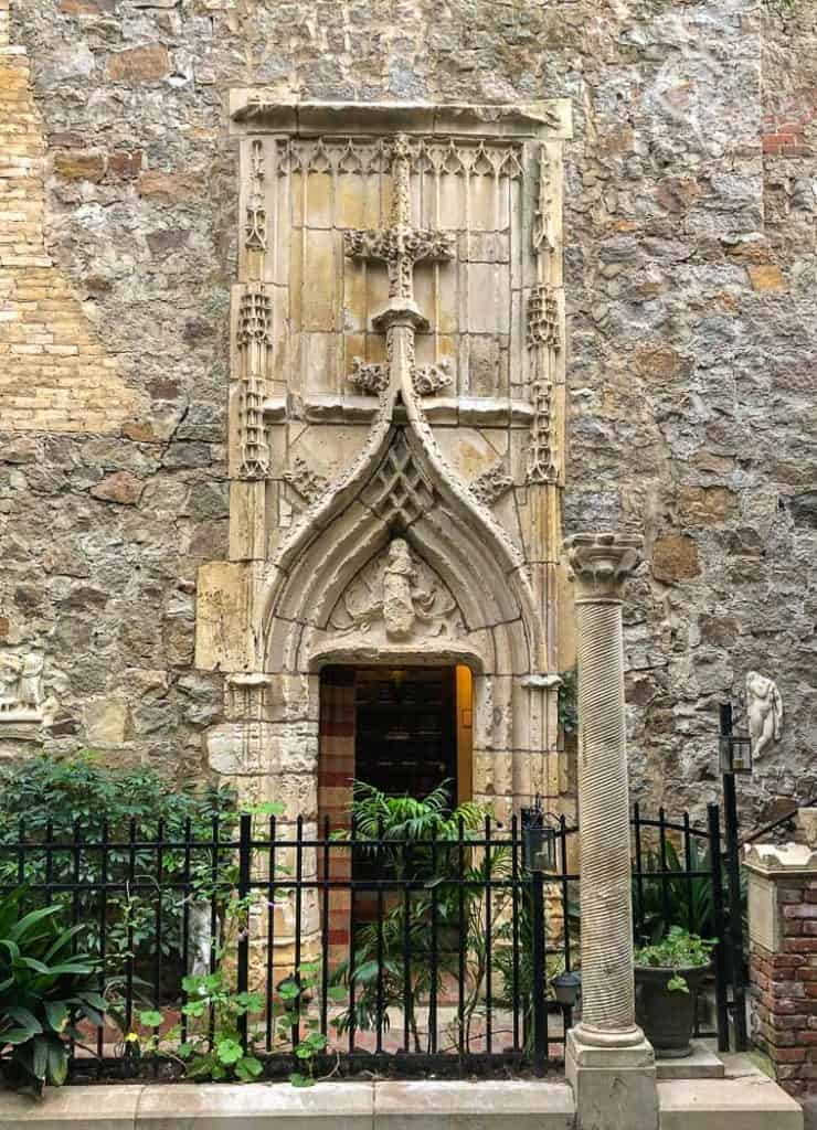 Hammond Castle Courtyard Doorway from France