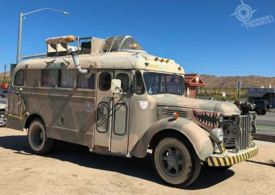 Joshua Tree Saloon Yard Art Bus