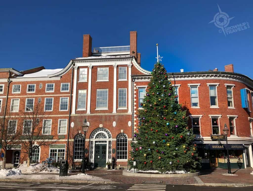 Market Square Christmas Tree downtown Portsmouth NH