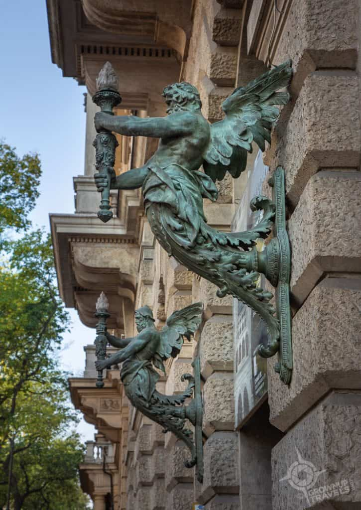 Budapest Architectural details Andrassy Avenue building
