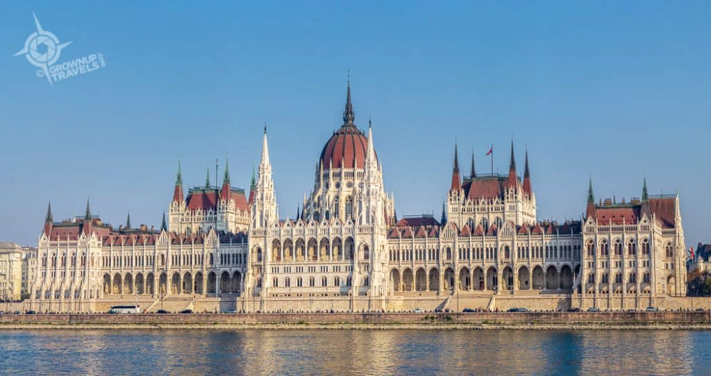 Budapest Hungarian Parliament Building from Buda waterfront