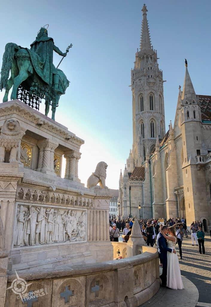 Budapest St. Mathias wedding couple