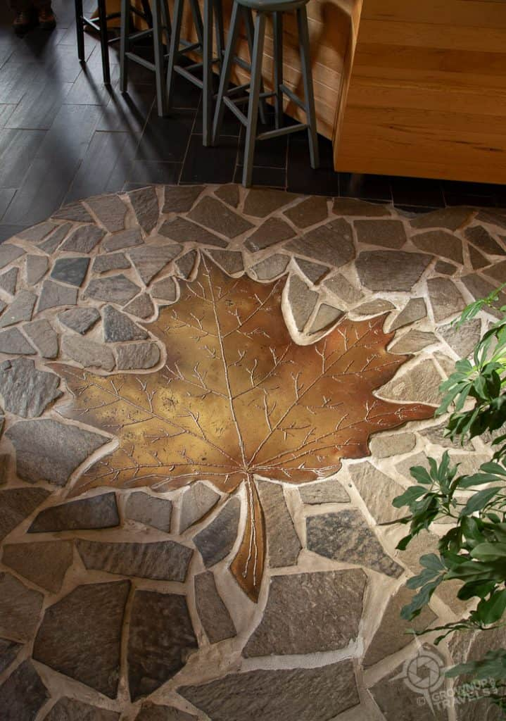 Inside Domaine Acer maple leaf floor