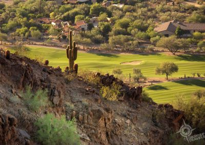 Phoenix AZ golf course view from Camelback