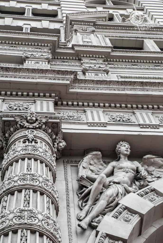 Buffalo Architecture Ellicott Square Mythological carved figures