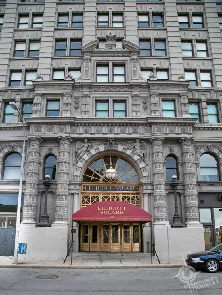 Buffalo Architecture Ellicott Square entrance