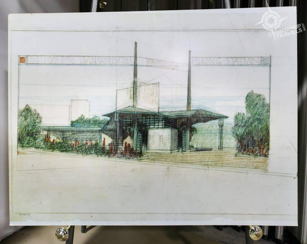 Buffalo Architecture FLW Filling Station drawing