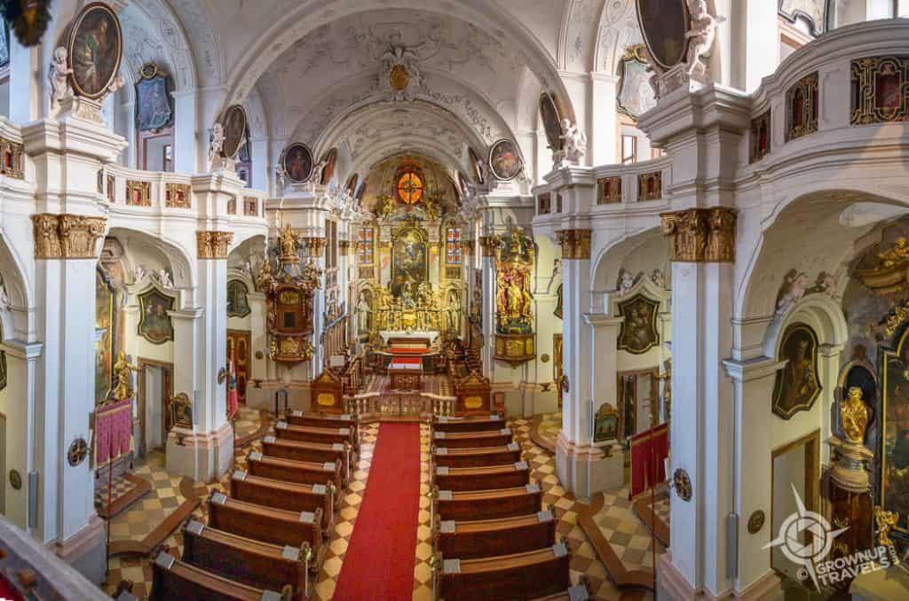 Durnstein Abbey chapel interior