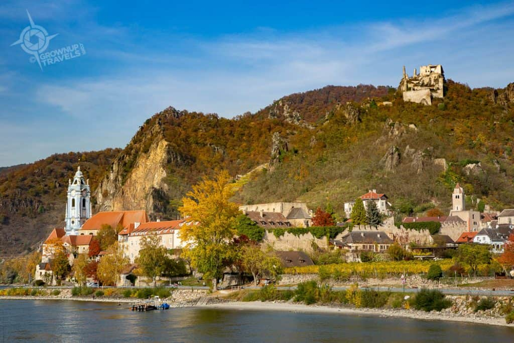 Durnstein Austria from downriver