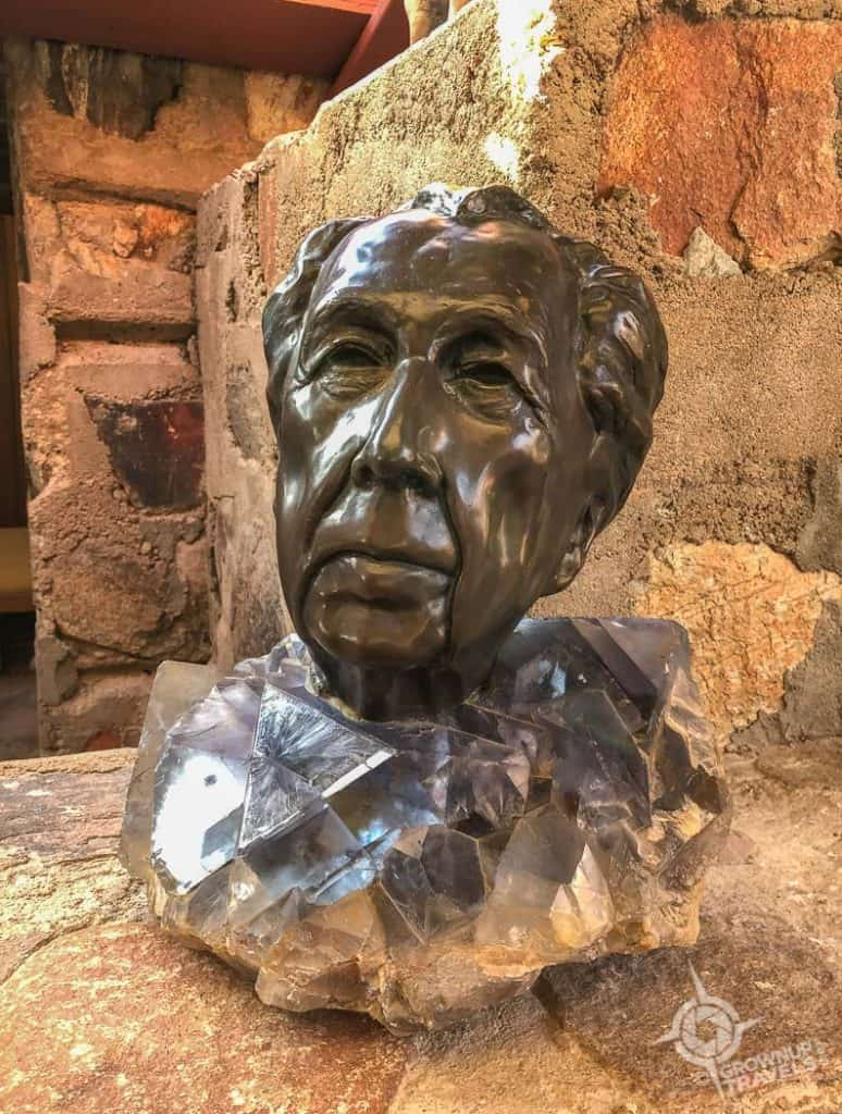 Taliesin West Frank Lloyd Wright bust