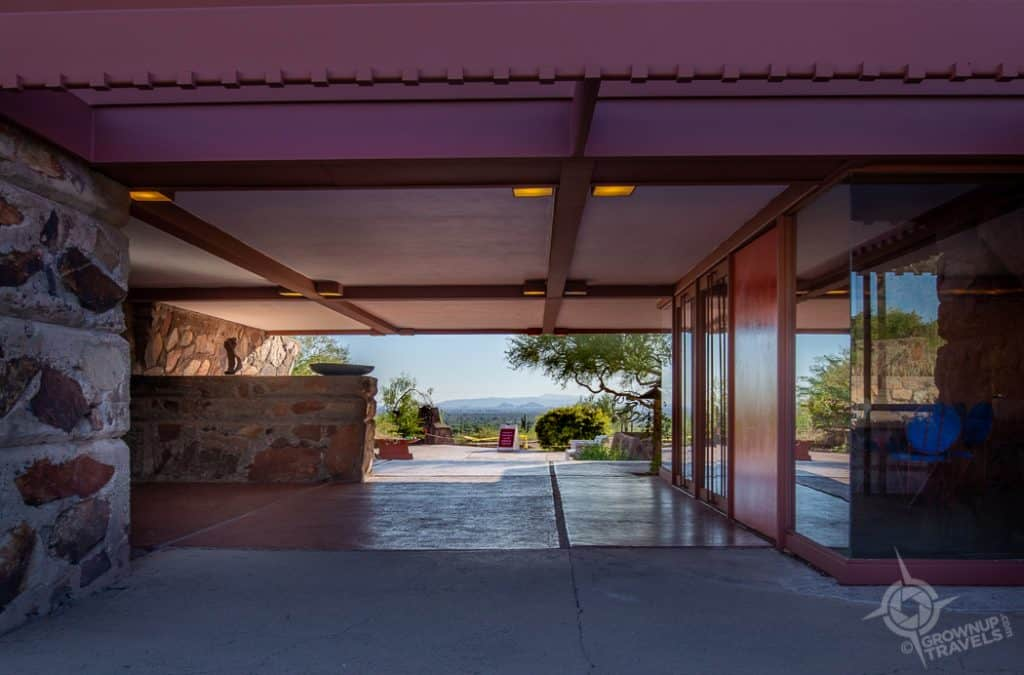 Taliesin West Garden Room and view