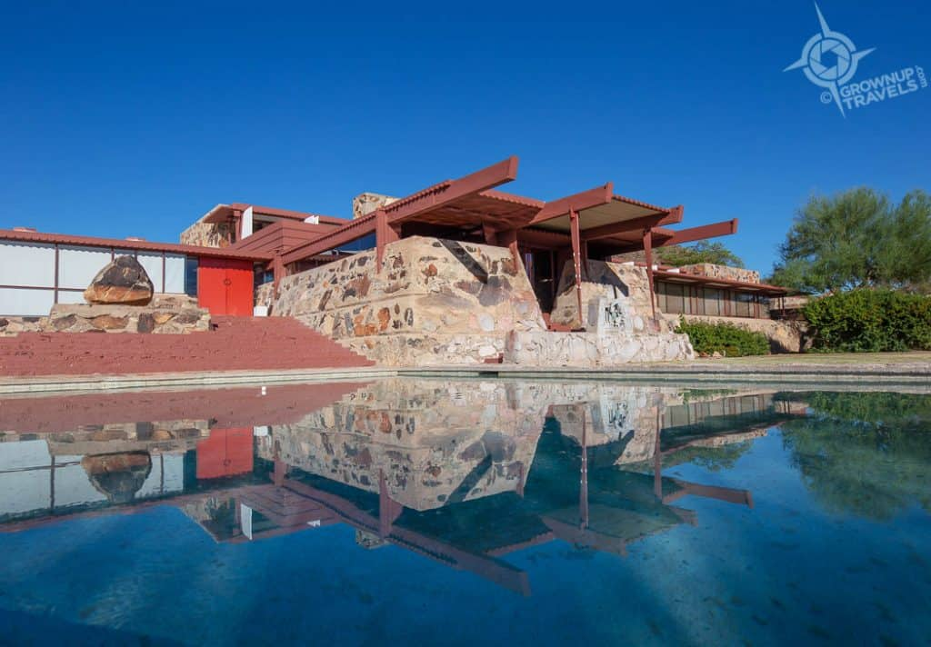 Taliesin West Pool reflections