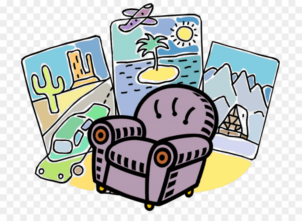 armchair travel illustration