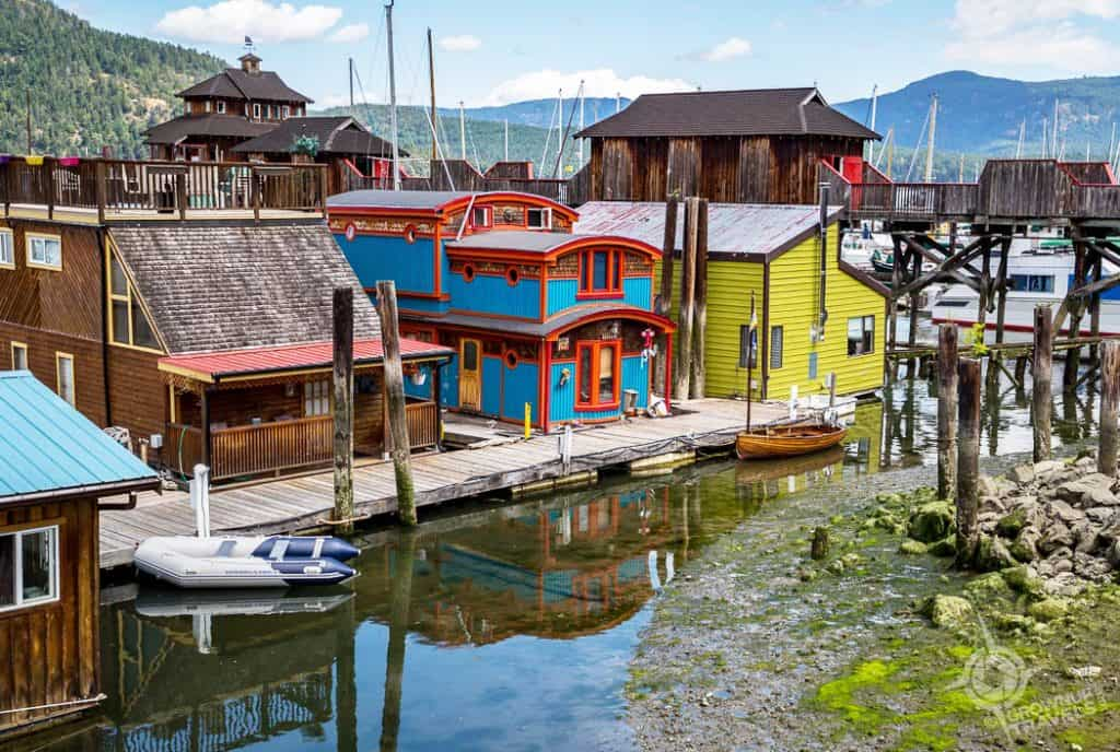 Cowichan Bay floating homes Vancouver Island