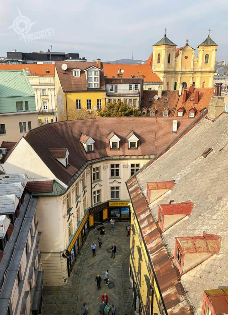 Bratislava Old Town seen from Michaels Gate Tower