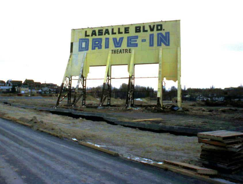 Lasalle Drive-in Sudbury destroyed