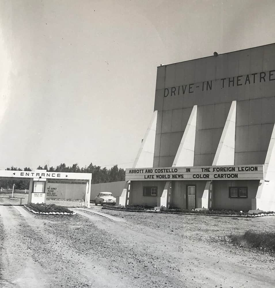 Lasalle Drive-in Sudbury historic photo