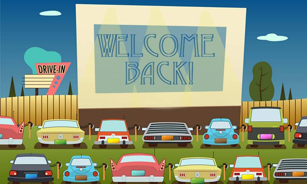 Welcome Drive in clip art