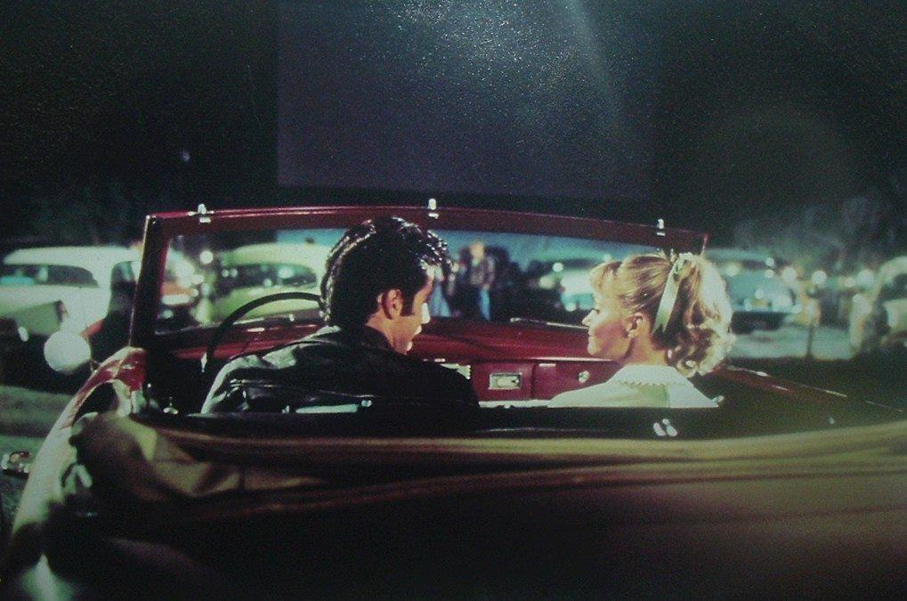 drive in scene from Grease