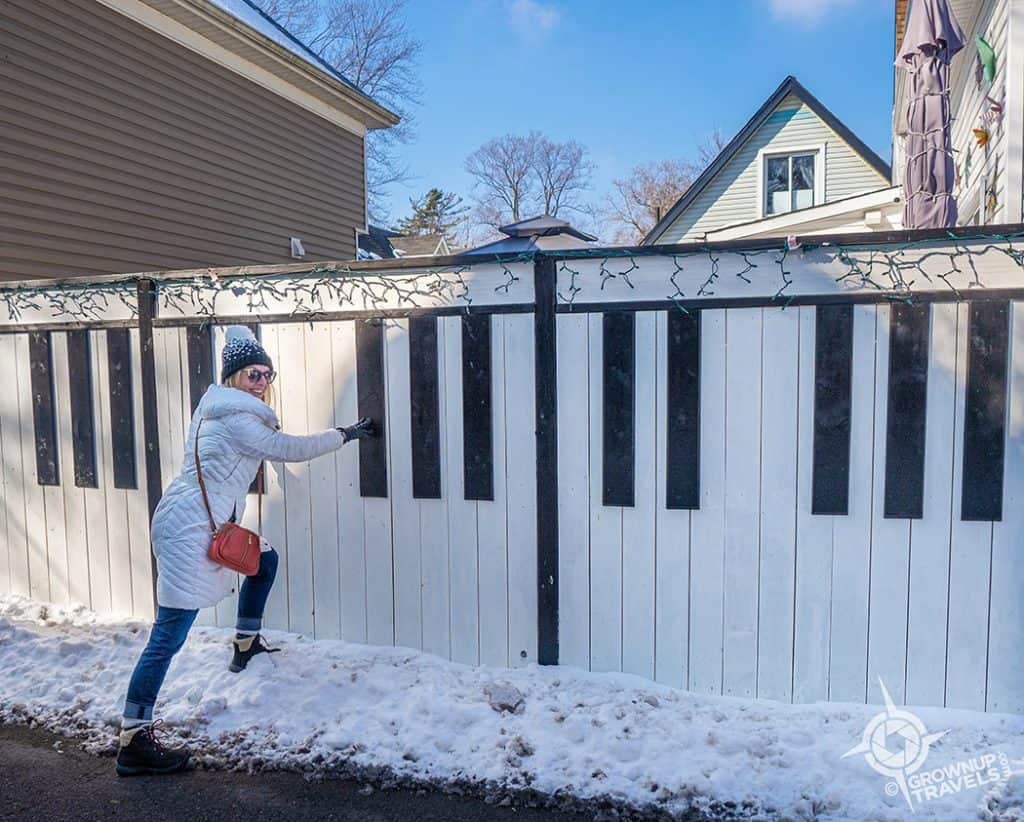 Jane Playing Piano Fence