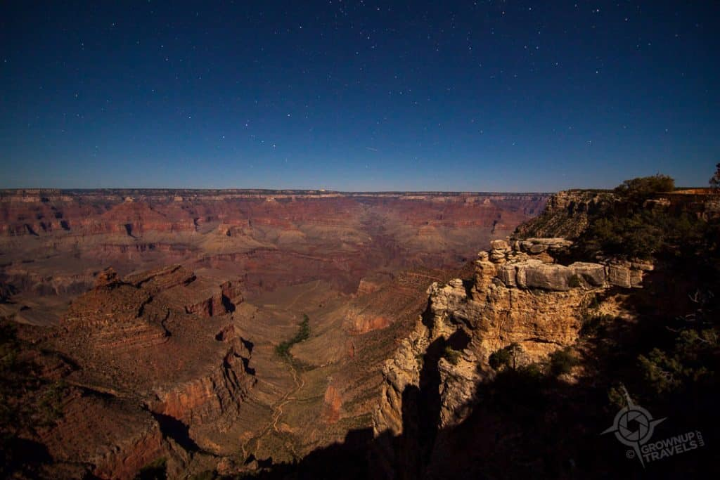 Grand Canyon Night Shot from South Rim