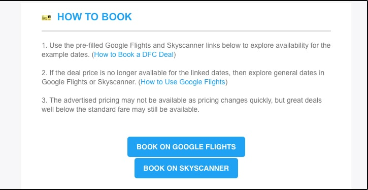 Dollar Flight Club Review 2021 email link
