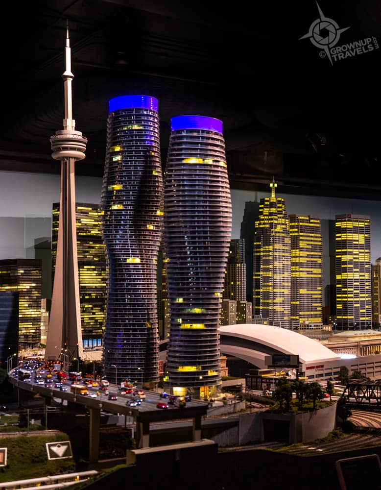 Little Canada Toronto at night CN Tower Absolute Towers