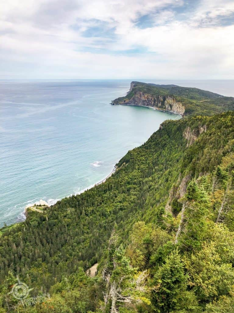 Gaspe Overlooks Lands End from Mont St. Alban tower