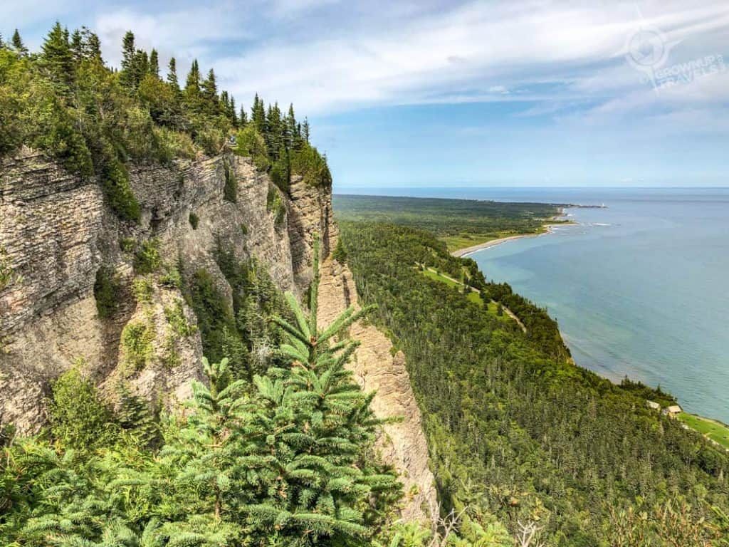 Gaspe Overlooks Mont St. Alban trail views