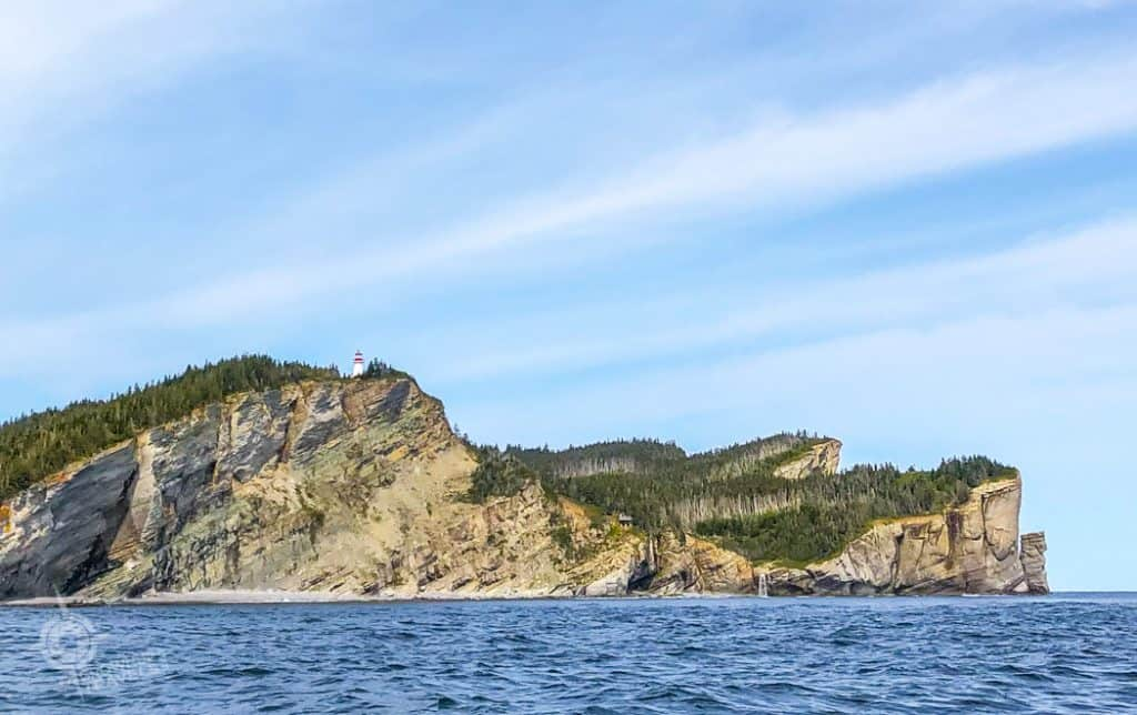 Gaspe Peninsula Lands End from the water