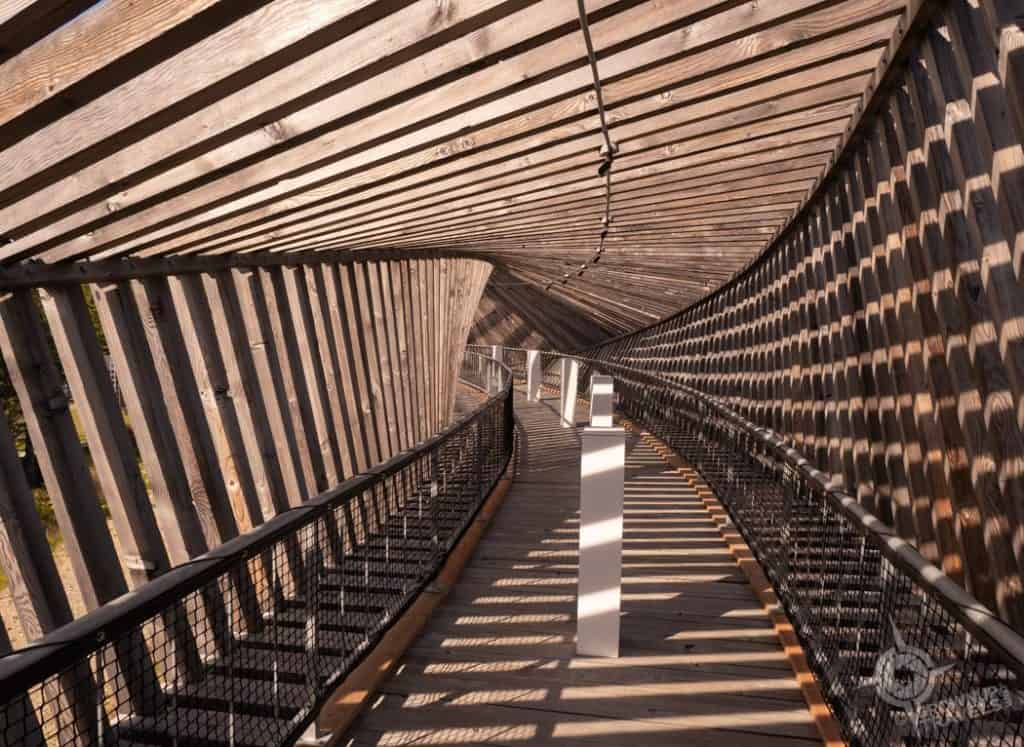 Interior of Deux Rivieres lookout tunnel