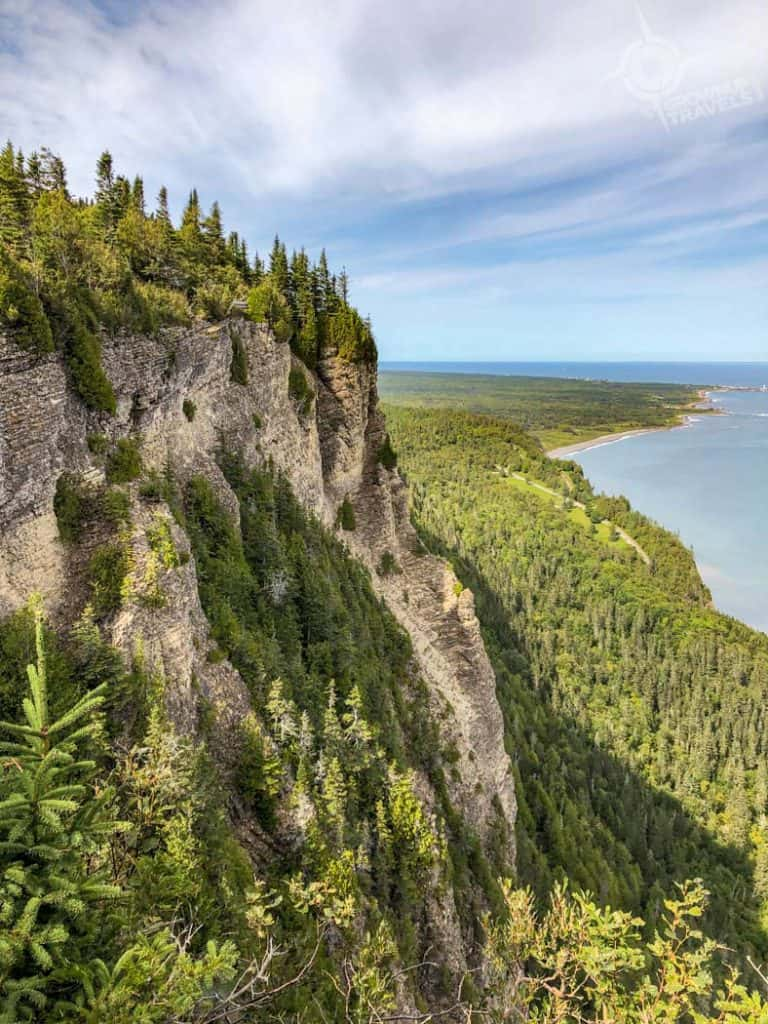 View from Mont St Alban trail Gaspe Forillon Park